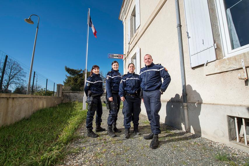 Benoit, Kristel Julie et Muriel Soulié: Adjudante de gendarmerie à la brigade de Tournon