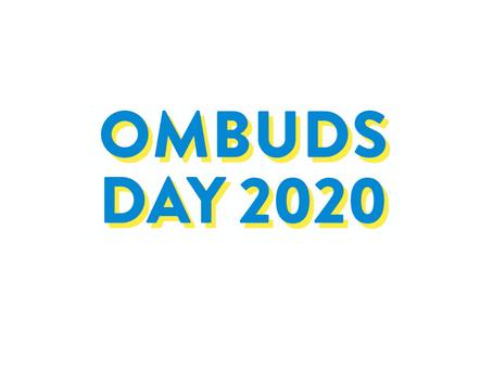 Az idei Ombuds Világnap minden képzeletemet felülmúlta!!