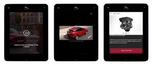 Jaguar E-Pace Clickable interactive video on tablet
