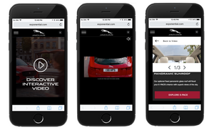 Jaguar E-Pace interactive video on mobile