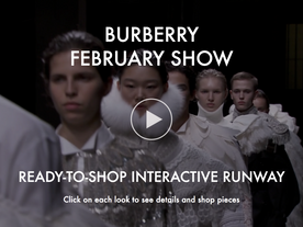 My Theresa x Burberry shoppable February 2017 runway