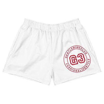 Women's Athletic Varsity Red/White Short Shorts