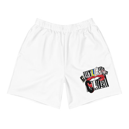 Men's Ransom White Athletic Long Shorts