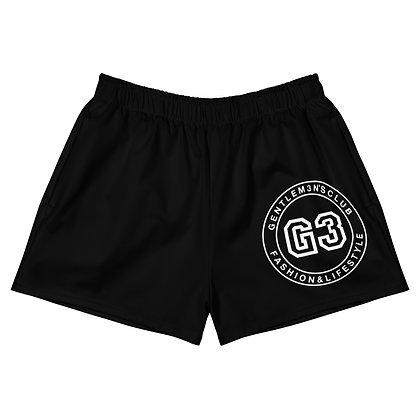 Women's Varsity Black Athletic Short Shorts
