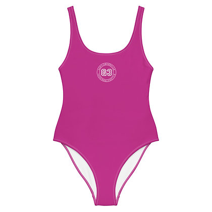 Varsity Pink One-Piece Swimsuit