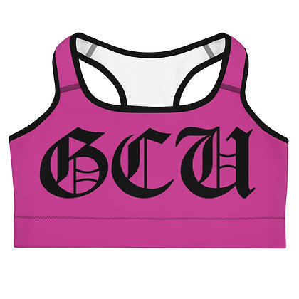 Gentlem3ns's Club University Pink/Black Sports bra