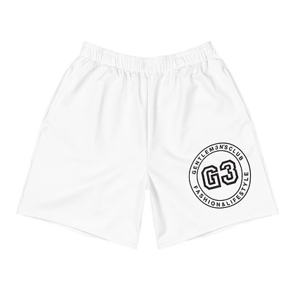 Men's Varsity White Athletic Long Shorts
