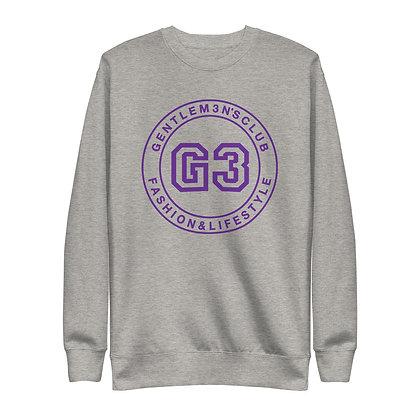 G3 Purple Varsity Logo Unisex Sweatshirt