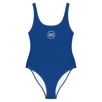 Varsity Blue One-Piece Swimsuit
