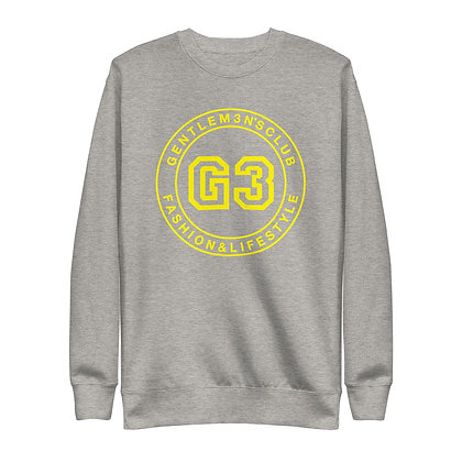 G3 Yellow Varsity Logo Unisex Sweatshirt