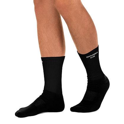 Gentlem3n's Club Ribbed Crew Black Socks