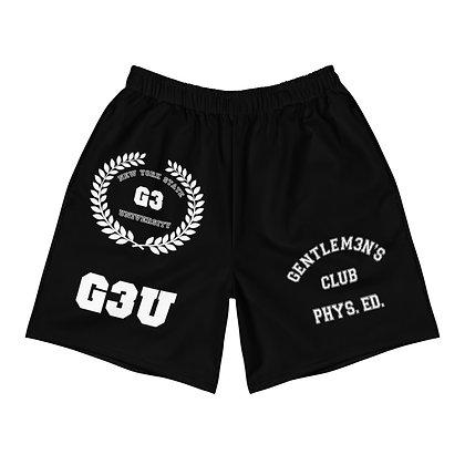 G3 University Men's Black Athletic Long Shorts