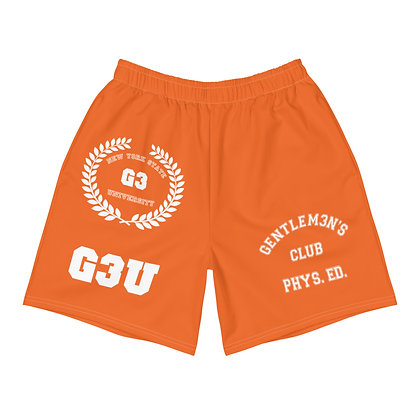 G3 University Men's Athletic Orange Long Shorts