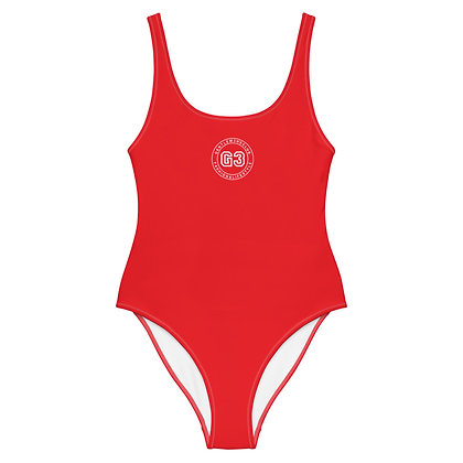 Varsity Red/White One-Piece Swimsuit