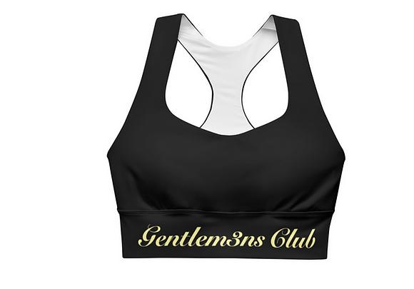 Gentlem3n's Club Yellow Script Longline sports bra