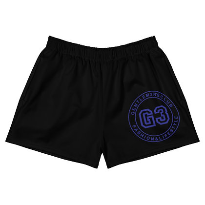 Women's Athletic Varsity Blk/Blue Short Shorts