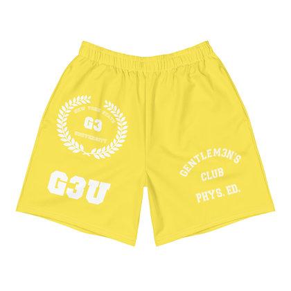 G3 University Men's Athletic Yellow Long Shorts