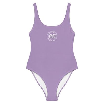 Varsity Lilac One-Piece Swimsuit
