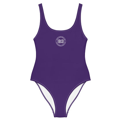 Varsity Purple One-Piece Swimsuit