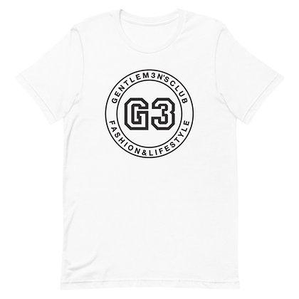 Varsity Black Logo Short-Sleeve Unisex T-Shirt