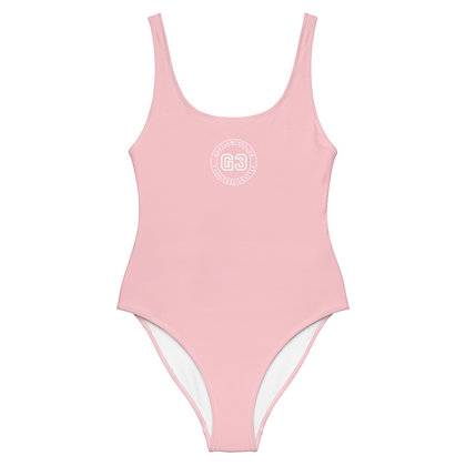 Varsity Baby Pink One-Piece Swimsuit