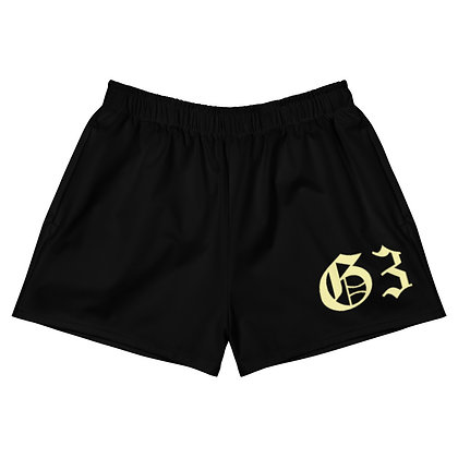 G3 Pastel Club Yellow Women's Athletic Short Shorts