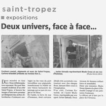 PRESSE ART SAINT TROPEZ GALERIE KOWALSKI