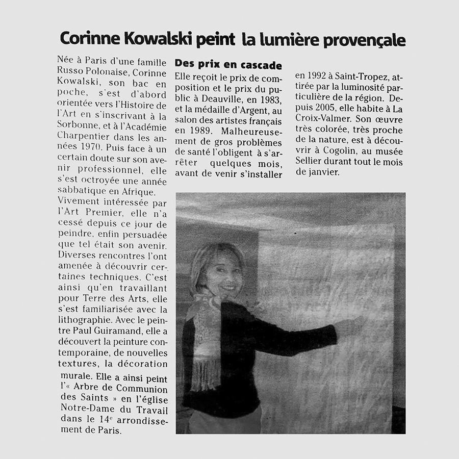 Galerie d'art Corinne Kowalski Saint Tropez