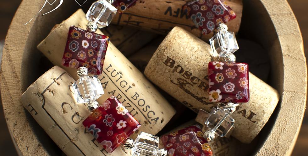 Murano Glass & Clear Swarovski