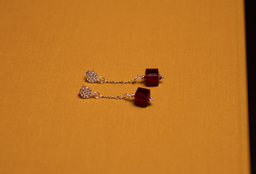 Red Swarovski Crystal Dangler