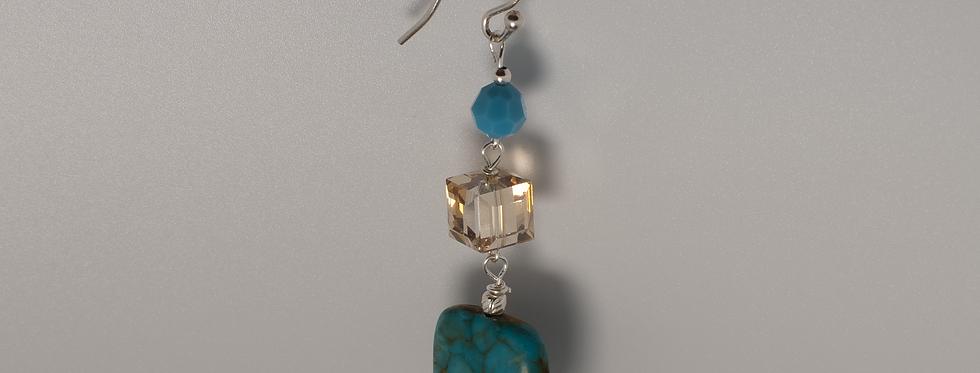 Turquoise Stone & Swarovski