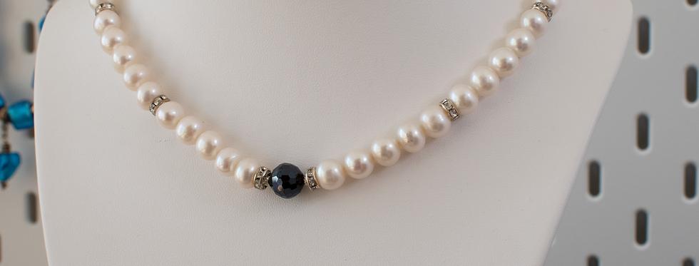 White & Grey Pearl Matinee