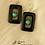 Thumbnail: Black Agate & Turquoise Bead Earrings
