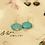 Thumbnail: Turquoise Silver Hook Earrings