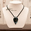 Thumbnail: Artisanal Glass & Braided Leather Necklace