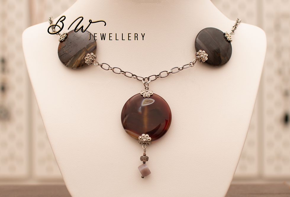 Agate & Sterling Silver Chain Princess