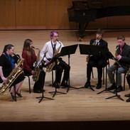 UMBC saxophone ensemble