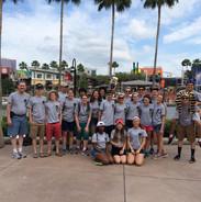 Wilde Lake High School band seniors in Florida, 2015