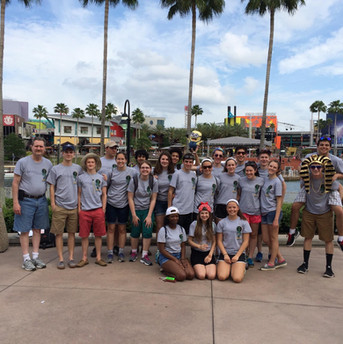 Wilde Lake High School band seniors in Florida, 2015