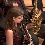 "Clarinet solo at the UMBC Jazz Duke Ellington concert, 2016. ""Ad lib on Nippon"""