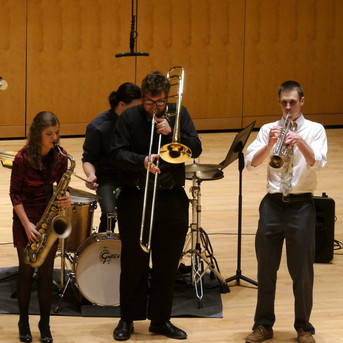 "UMBC Honor's Showcase 2016, my group playing ""Episode from a Village Dance"""