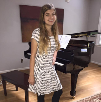 18th bday, rockin' a music print dress