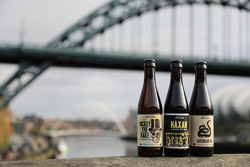 Framed Wylam beers (Newcastle) print