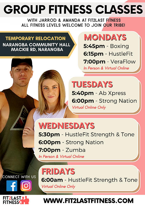 Group Fitness Timetable Current April 21
