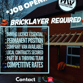 Job Opportunity ( Bricklayer)
