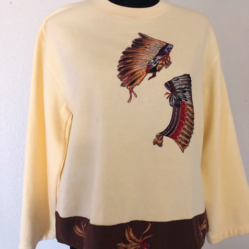 Vintage 1970s Native American Indian tribal crewneck sweatshirt