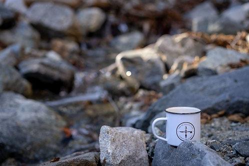 SDC  Vibes White Tin Enamel Camping Mug