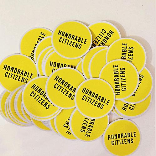 """2"""" UV Vinyl Honorable Citizens Logo Sticker"""