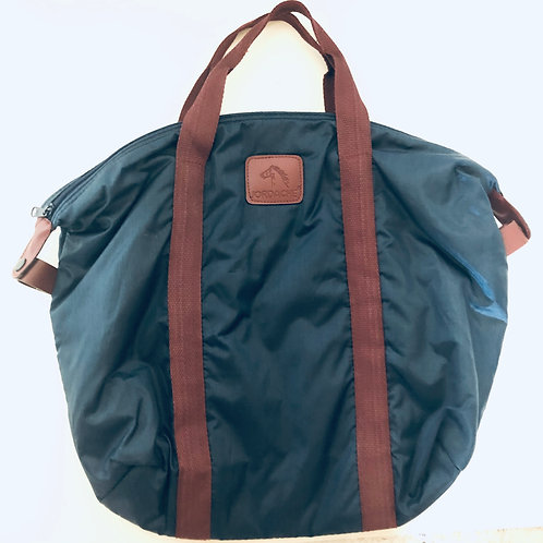 Vintage Jordache Navy & Maroon Nylon Tote Bag