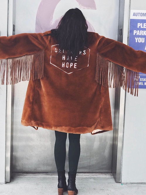 (Only One) Dreamers Have Hope Faux Fur Fringe Jacket